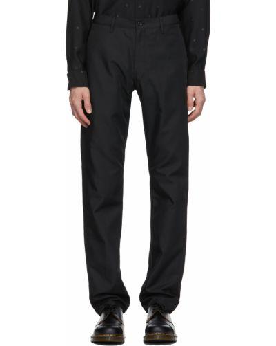 Czarne spodnie srebrne Comme Des Garcons Homme Deux