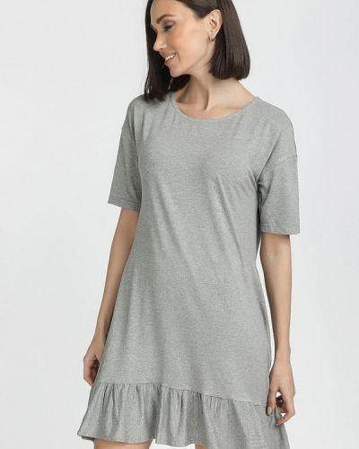 Платье - серое Gloss