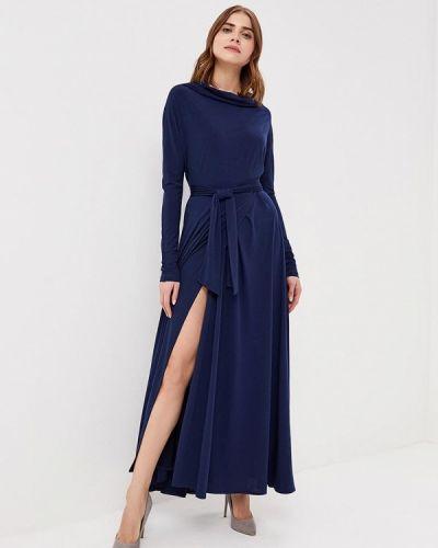 Синее платье с длинными рукавами Alina Assi