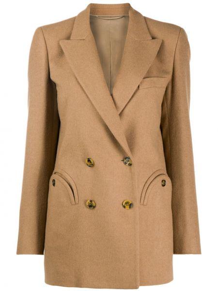 Шерстяная классическая прямая куртка с карманами Blazé Milano