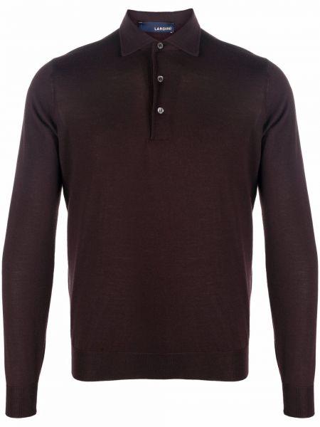 Brązowy sweter wełniany Lardini