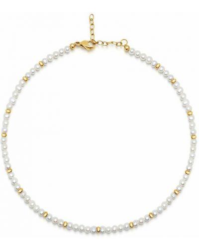 Biały złoty naszyjnik Nialaya