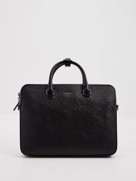 Черная кожаная сумка из искусственной кожи Michael Kors