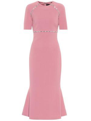 Вечернее розовое вечернее платье из вискозы David Koma