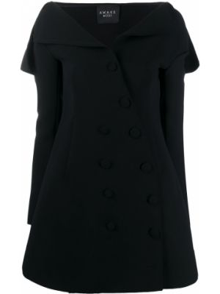 Sukienka mini z długim rękawem czarny A.w.a.k.e. Mode
