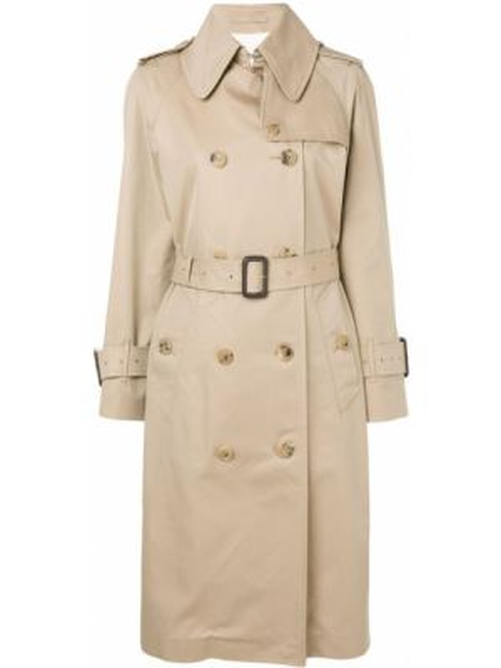 Bawełna bawełna z rękawami prochowiec dwurzędowy Mackintosh