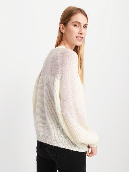 Пуловер с вырезом - белый Armani Exchange