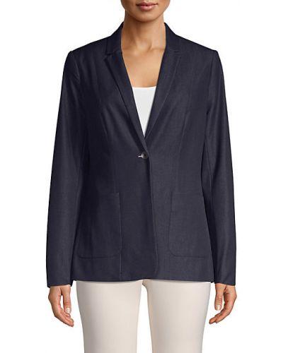 Удлиненный пиджак с подкладкой с заплатками с длинными рукавами T-tahari