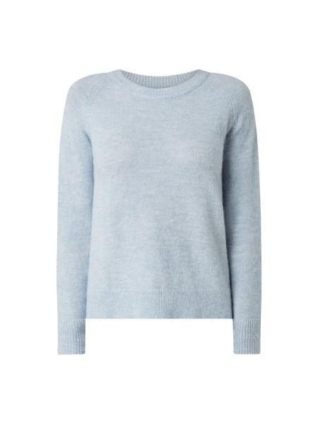 Prążkowany niebieski sweter wełniany Selected Femme