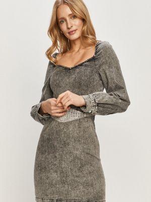 Облегающее серое джинсовое платье с вырезом Tally Weijl