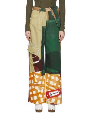 Широкие джинсы с манжетами с цветочным принтом Jacquemus