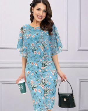 Платье с цветочным принтом шифоновое Charutti