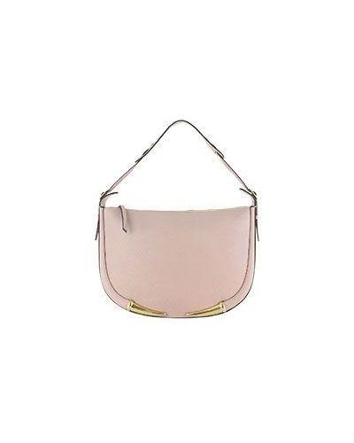 Розовая кожаная сумка Roberto Cavalli