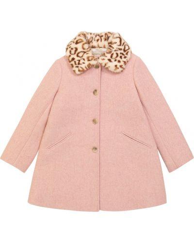 Розовое пальто с принтом Bonpoint