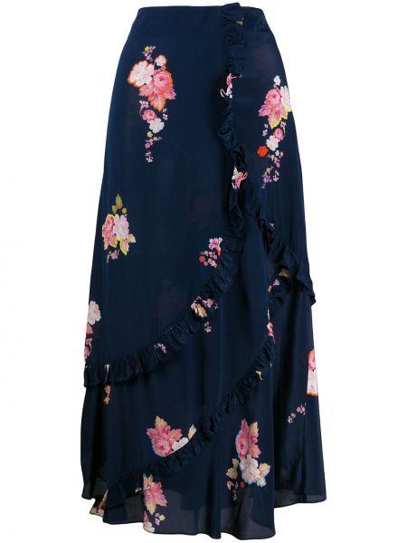 Синяя юбка с оборками Preen Line