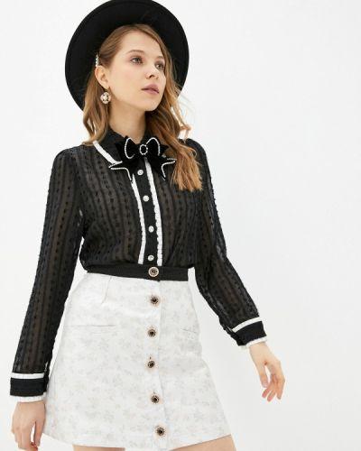 Черная блузка с длинными рукавами Sister Jane