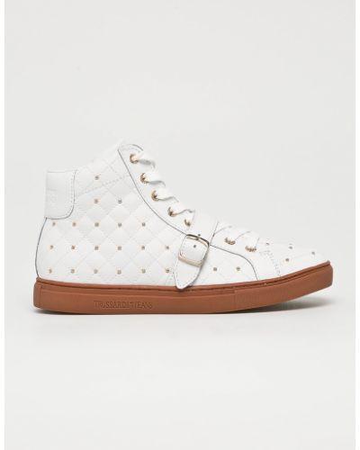 Белые джинсы на шнуровке Trussardi Jeans