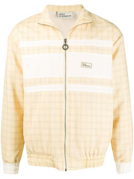 Żółta długa kurtka wełniana z długimi rękawami Drole De Monsieur