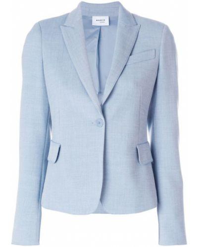 Синий пиджак приталенный Akris
