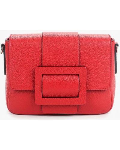 Кожаная сумка через плечо красная Madeleine