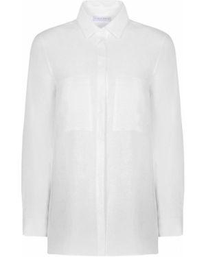 Блузка с длинным рукавом льняная на пуговицах Le Tricot Perugia