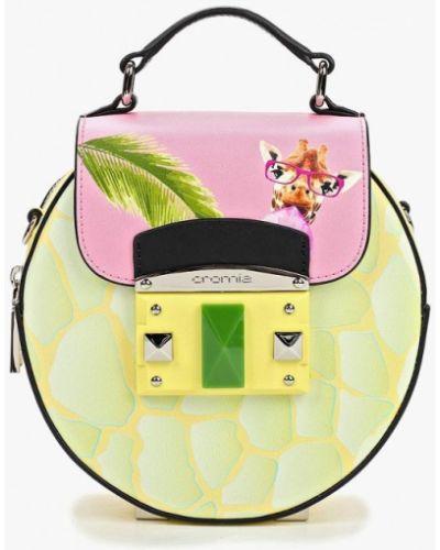 Кожаный сумка через плечо зеленый Cromia
