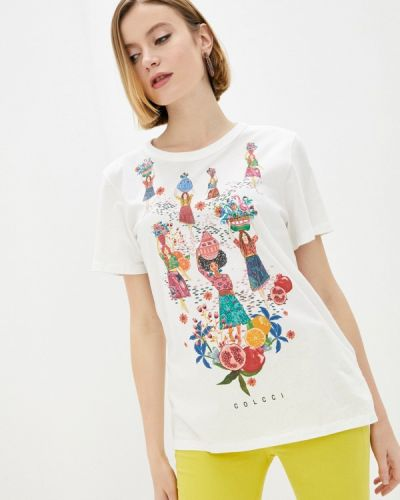 Белая футболка с короткими рукавами Colcci