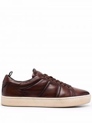 Buty sportowe skorzane - brązowe Officine Creative