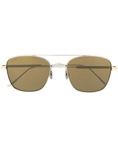 Солнцезащитные очки серебряный Cartier