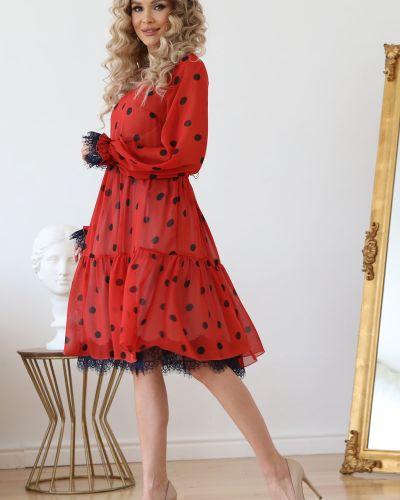 Шифоновое кружевное нарядное платье Wisell