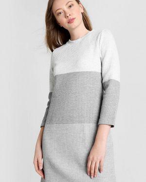 Платье серое вязаное Ostin