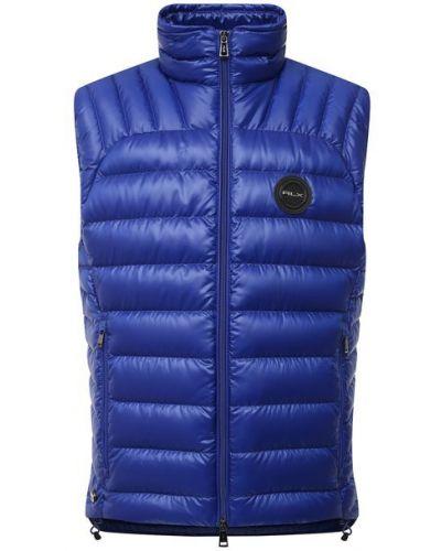 Синяя утепленная пуховая жилетка Ralph Lauren