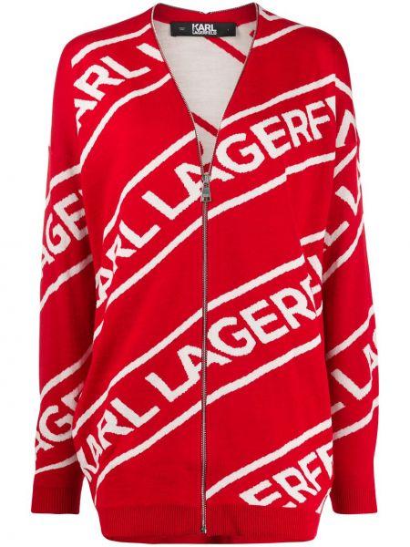 Кардиган на молнии жаккардовый Karl Lagerfeld