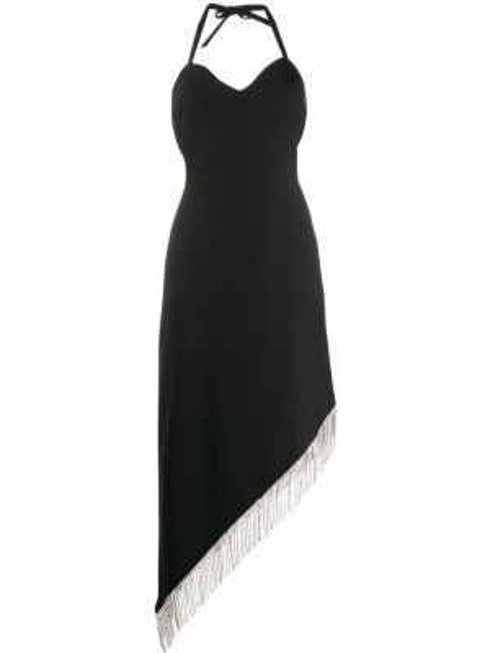 Платье миди с бахромой черное Giuseppe Di Morabito
