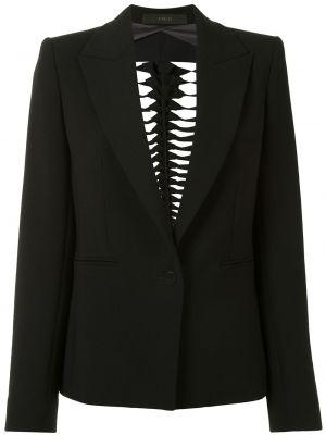 Шерстяной черный пиджак на пуговицах Dion Lee