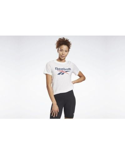 T-shirt bawełniana - biała Reebok