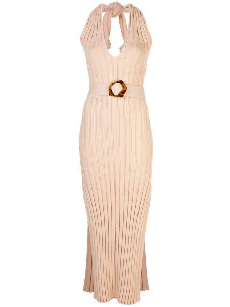 Платье с поясом с декольте в рубчик Nicholas