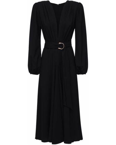 Платье миди - черное Maria Lucia Hohan