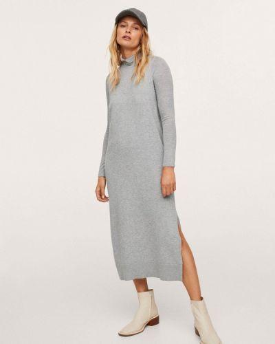 Вязаное платье - серое Mango