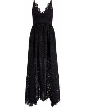Платье макси в стиле бохо с V-образным вырезом Elie Saab