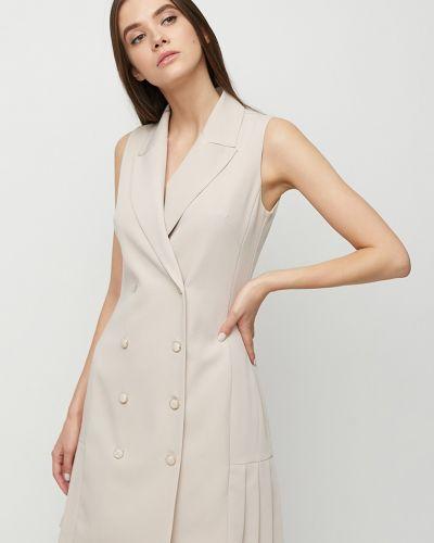 Костюмное платье двубортное на пуговицах без рукавов Cardo