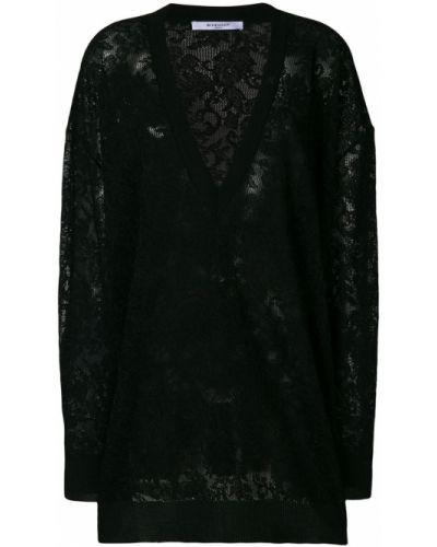 Свитер оверсайз с V-образным вырезом с цветочным принтом Givenchy