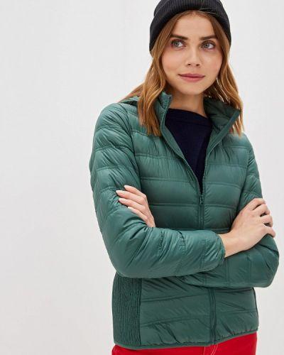 Зимняя куртка осенняя зеленая United Colors Of Benetton