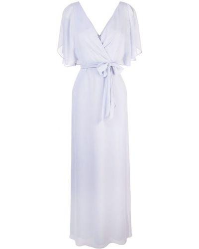 Фиолетовое вечернее платье с запахом с вырезом на молнии Amsale
