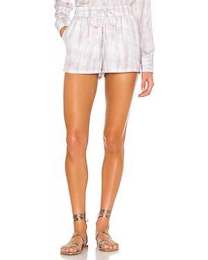 Сатиновые розовые шорты с карманами David Lerner