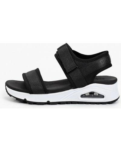 Текстильные черные сандалии Skechers