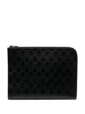 Кожаная черная сумка Alexander Mcqueen