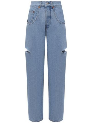 Хлопковые джинсы - голубые Forte Dei Marmi Couture