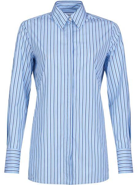 Хлопковая рубашка - голубая Victoria Beckham