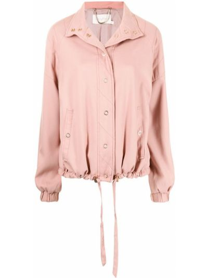 Розовая куртка длинная Ginger & Smart